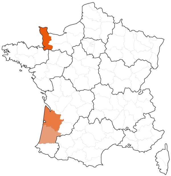Les trois premiers départements producteurs de carottes en France